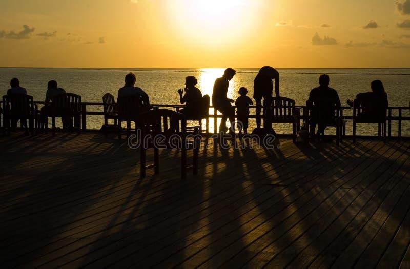 Sonnenuntergang in Ozean #2 lizenzfreie stockbilder