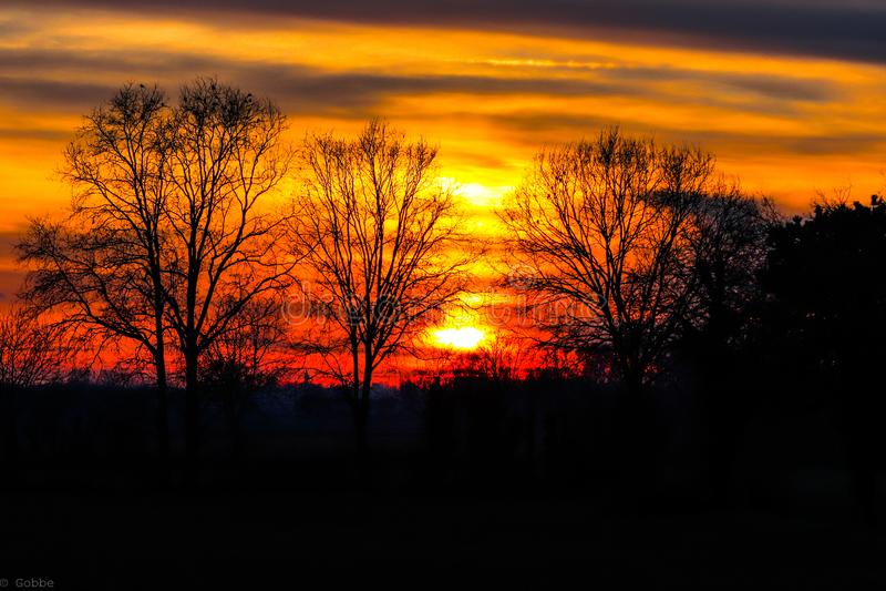 Sonnenuntergang in Pavia lizenzfreie stockfotos