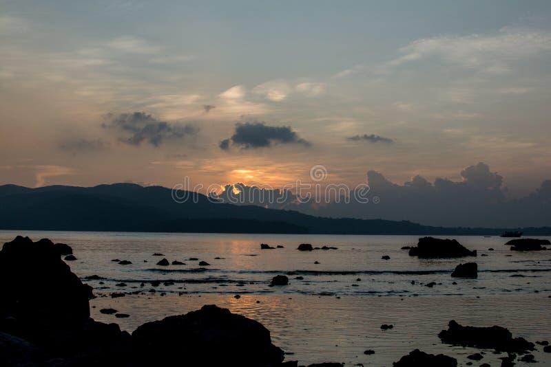 Sonnenuntergang in Port Blair stockfoto