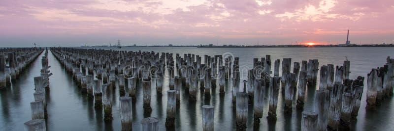 Sonnenuntergang Prinzessin Pier stockfotografie
