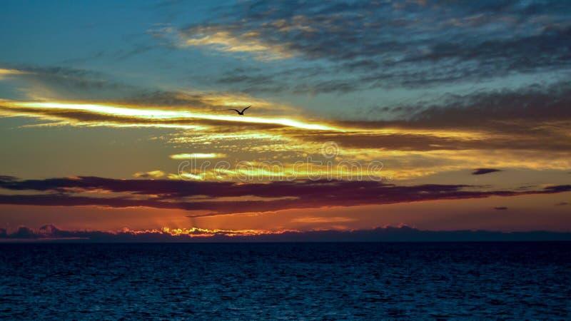Sonnenuntergang Puerto Penasco, der in Richtung Baja 2 blickt stockfotos