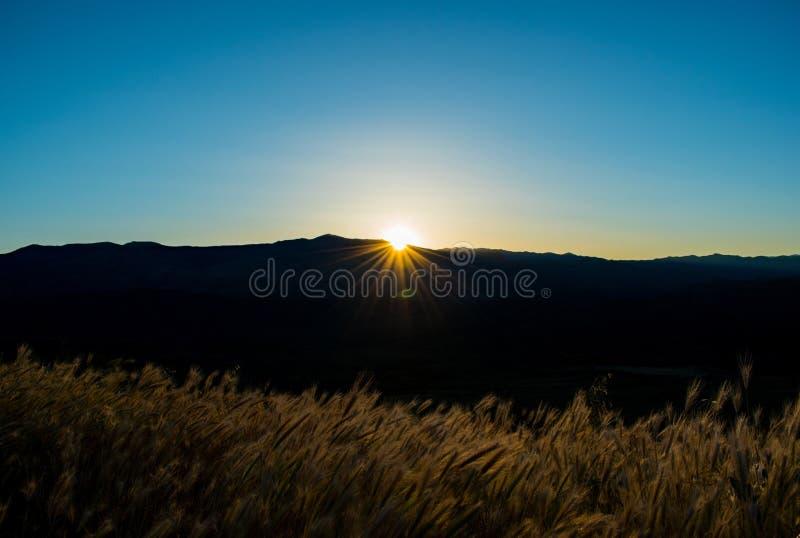 Sonnenuntergang am Sonnenuntergang-Punkt, Arizona stockfotografie