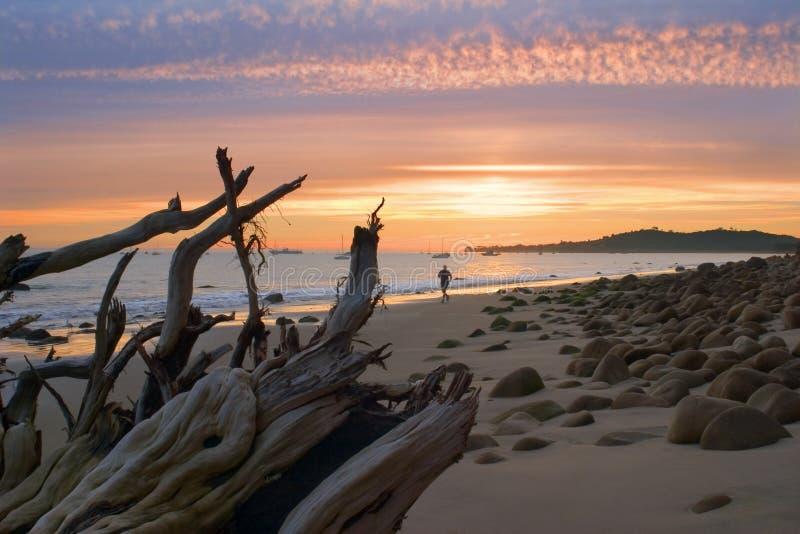 Sonnenuntergang-Rüttler lizenzfreies stockfoto