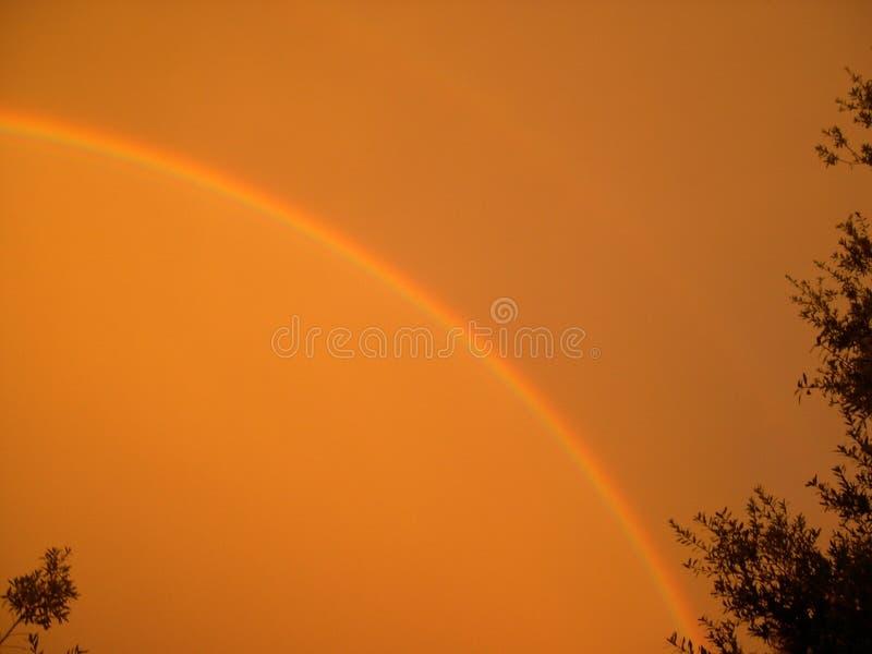 Download Sonnenuntergang-Regenbogen stockbild. Bild von sturm, himmel - 31307