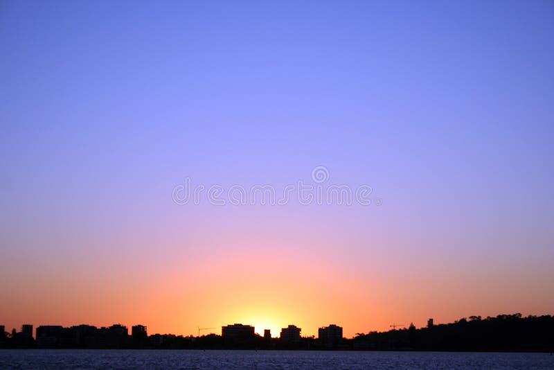 Sonnenuntergang, Südperth stockbild