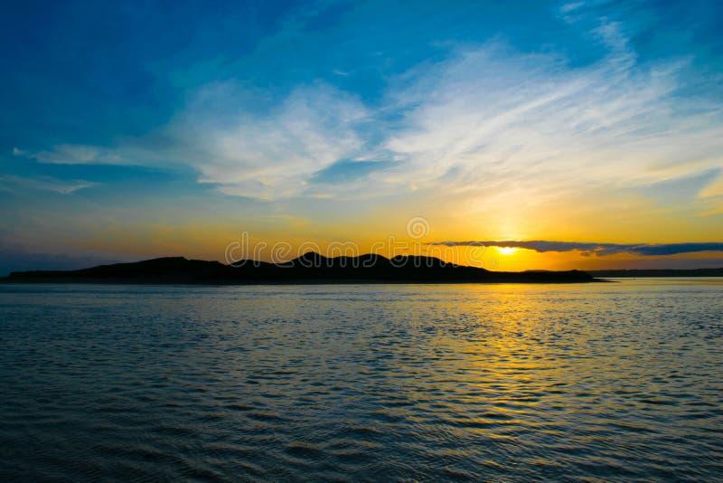 Sonnenuntergang, Saleens, Waterford, Irland lizenzfreie stockfotos