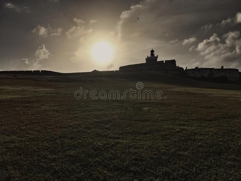 Sonnenuntergang in San Juan lizenzfreie stockfotos