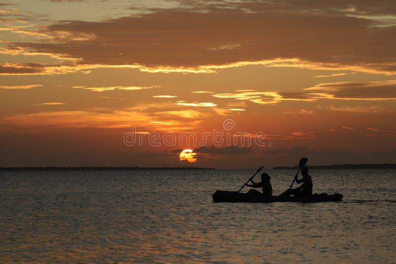 Sonnenuntergang in Sansibar lizenzfreie stockbilder