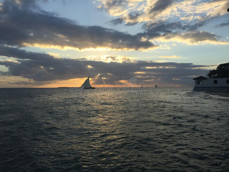 Sonnenuntergang in Sansibar stockfotografie