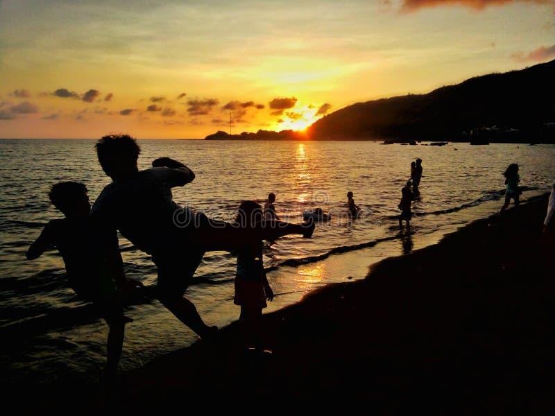 Sonnenuntergang-Schatten stockfoto