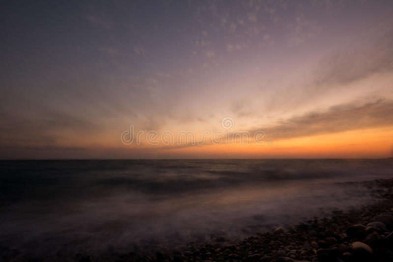 Sonnenuntergang Schwarzes Meer lizenzfreie stockfotografie
