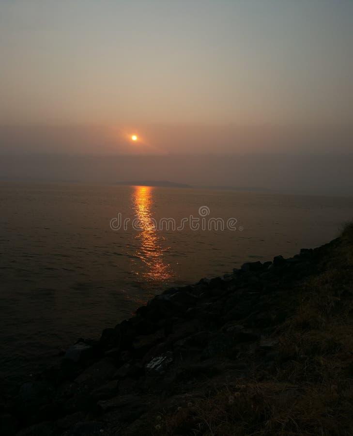 Sonnenuntergang in Seattle lizenzfreies stockbild