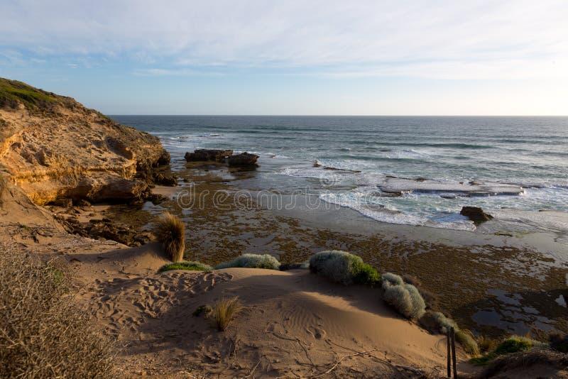 Sonnenuntergang in Sorrent, Australien lizenzfreie stockfotos