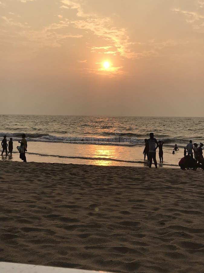 Sonnenuntergang in Sri Lanka stockbilder