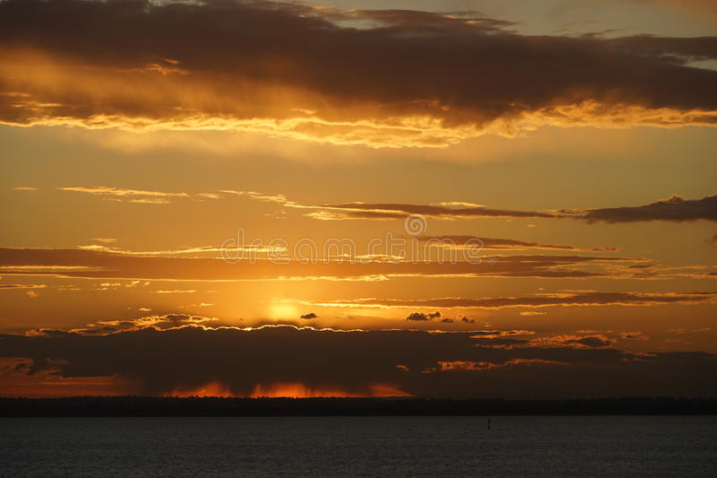 Sonnenuntergang in Sydney stockfotografie