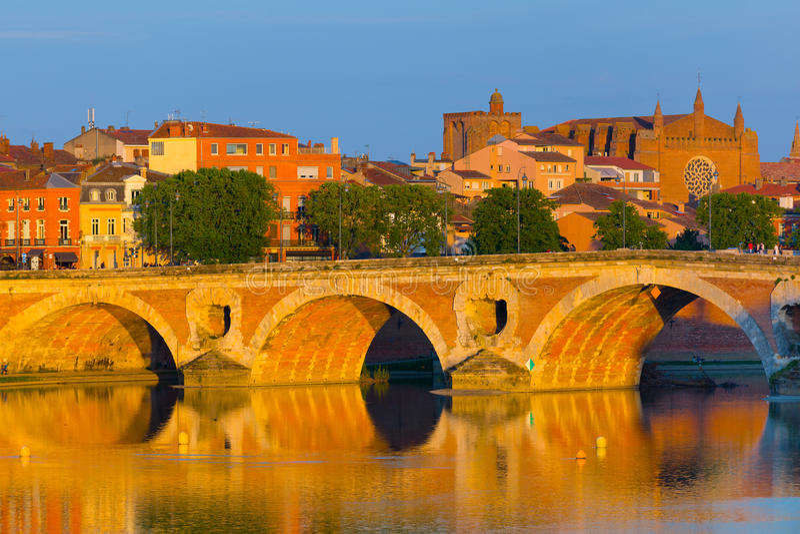 Sonnenuntergang in Toulouse stockfoto