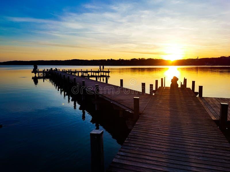 Sonnenuntergang-Träume - Feiertage stockfoto