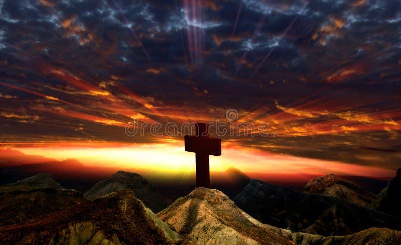 Sonnenuntergang und Idol lizenzfreies stockbild