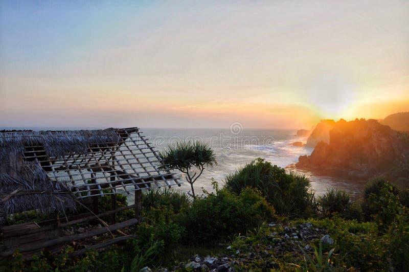 Sonnenuntergang und Meer lizenzfreie stockbilder