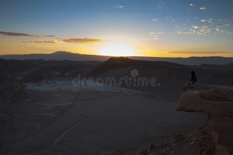 Sonnenuntergang in Valle-De-La Luna lizenzfreie stockfotografie