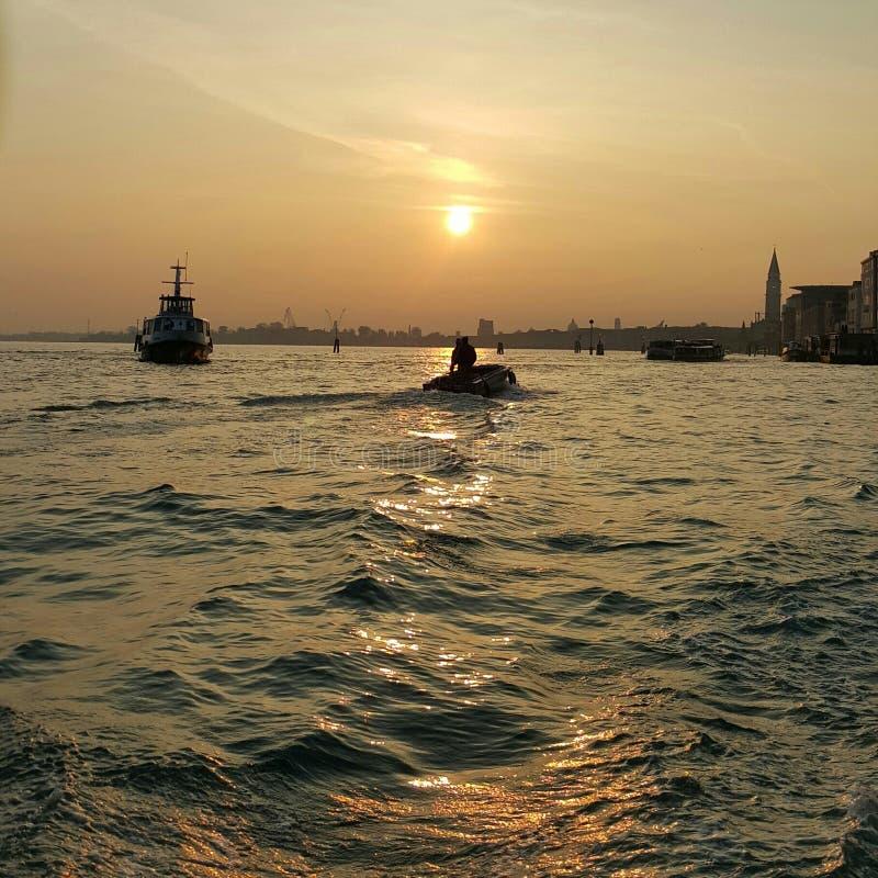 Sonnenuntergang in Venedig lizenzfreie stockfotografie