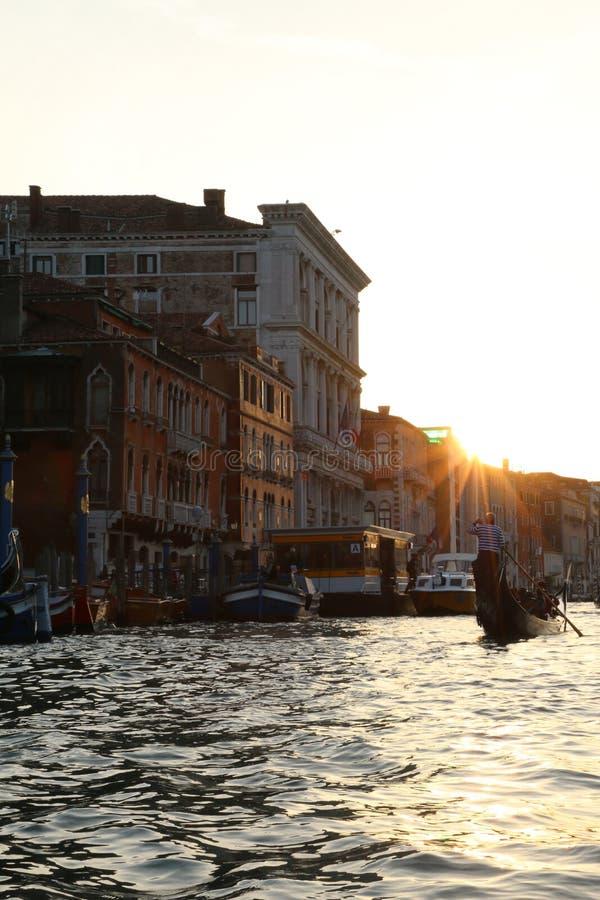 Sonnenuntergang in Venedig lizenzfreies stockfoto