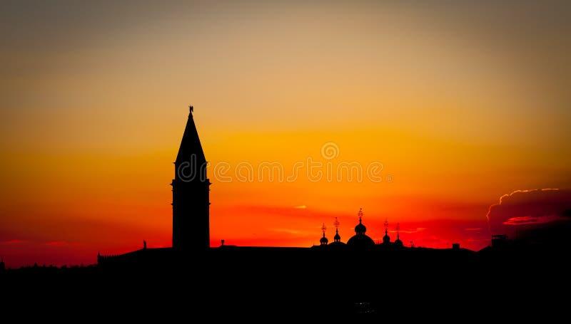 Sonnenuntergang in Venedig, Italien lizenzfreie stockfotografie