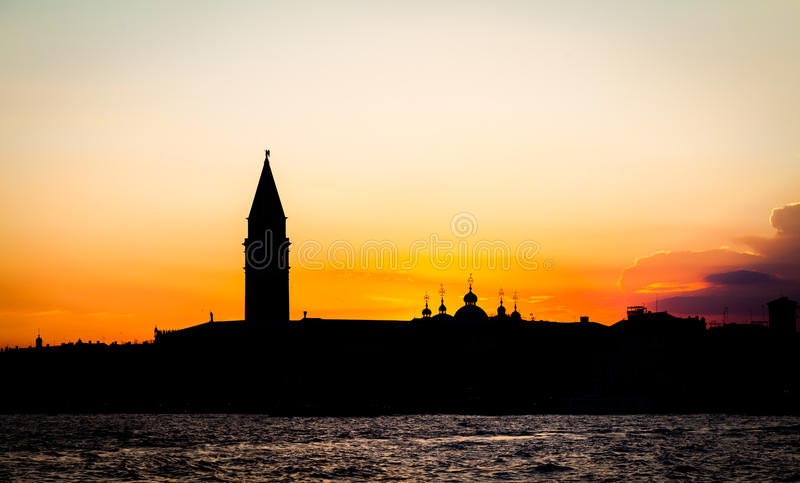 Sonnenuntergang in Venedig, Italien lizenzfreie stockfotos