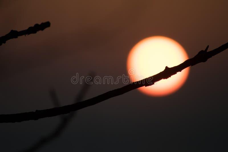 Sonnenuntergang in Vente-Kap lizenzfreie stockbilder