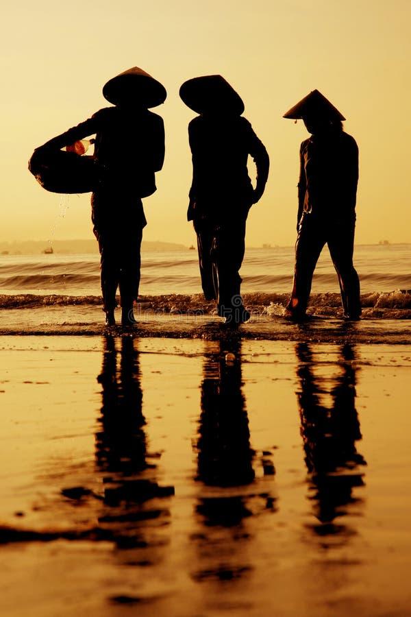 Sonnenuntergang Vietnam lizenzfreie stockfotos