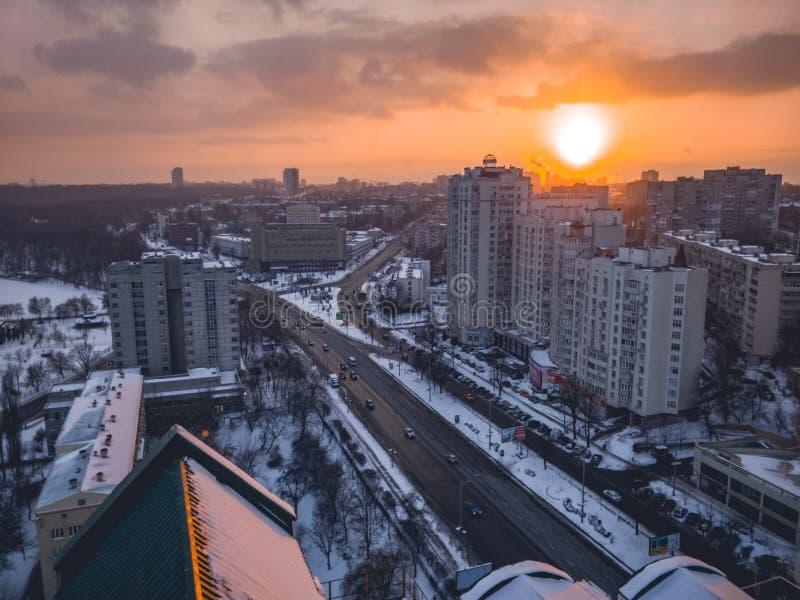 Sonnenuntergang von der Dachspitze stockbilder