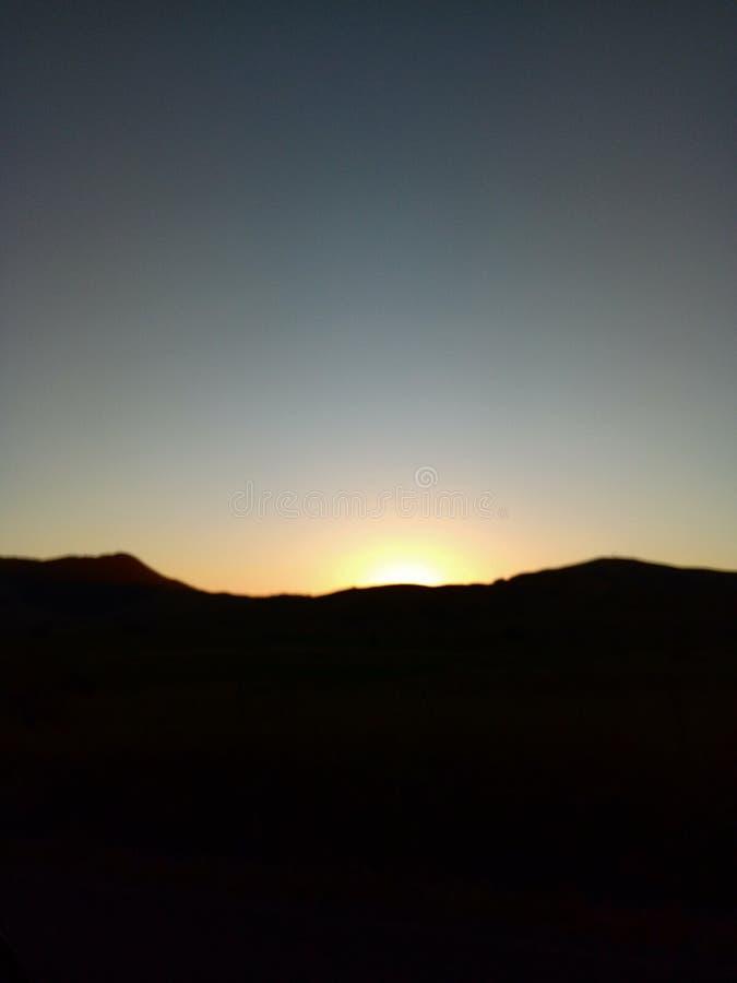 Sonnenuntergang Waikato Neuseeland lizenzfreie stockfotos