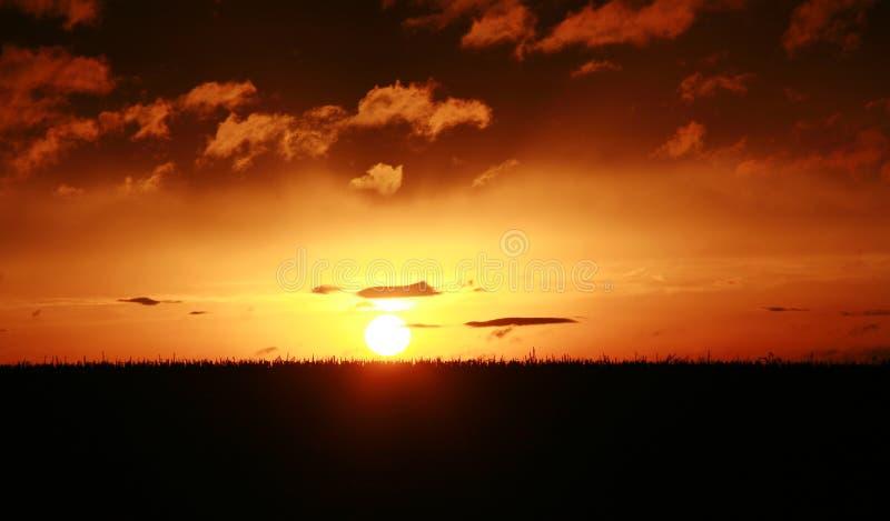 Sonnenuntergang-Wolken lizenzfreies stockbild
