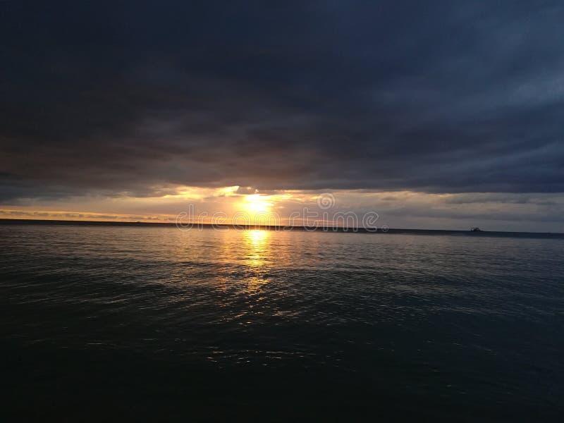 Sonnenuntergangansicht mont choisy stockfoto