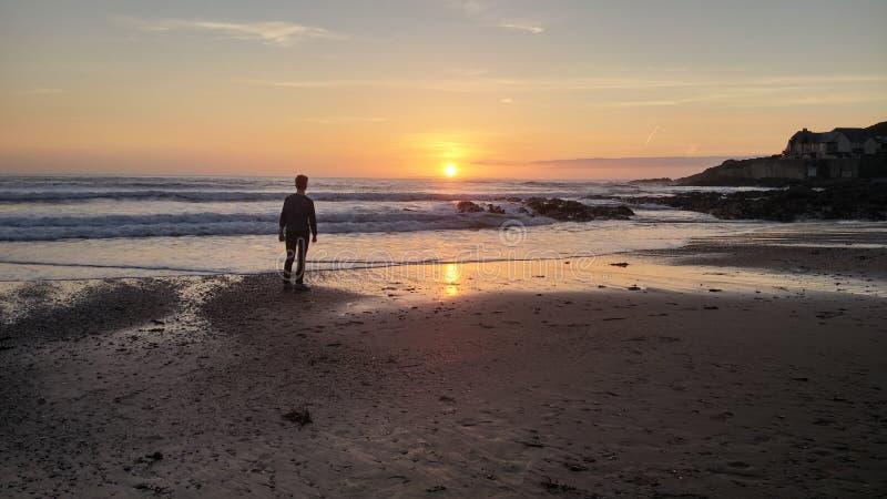Sonnenuntergangaufstellung stockfotos