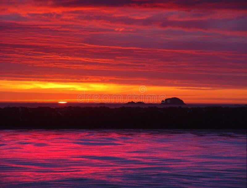 Sonnenuntergangbild 9 lizenzfreies stockbild
