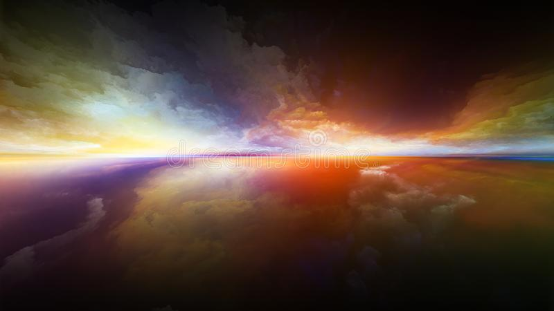 Sonnenuntergangexplosion stock abbildung