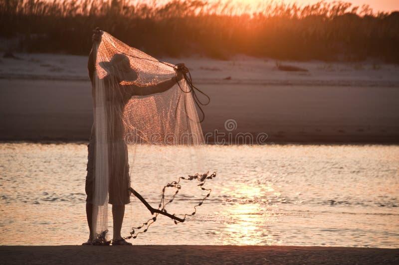 Sonnenuntergangfischer II lizenzfreies stockbild
