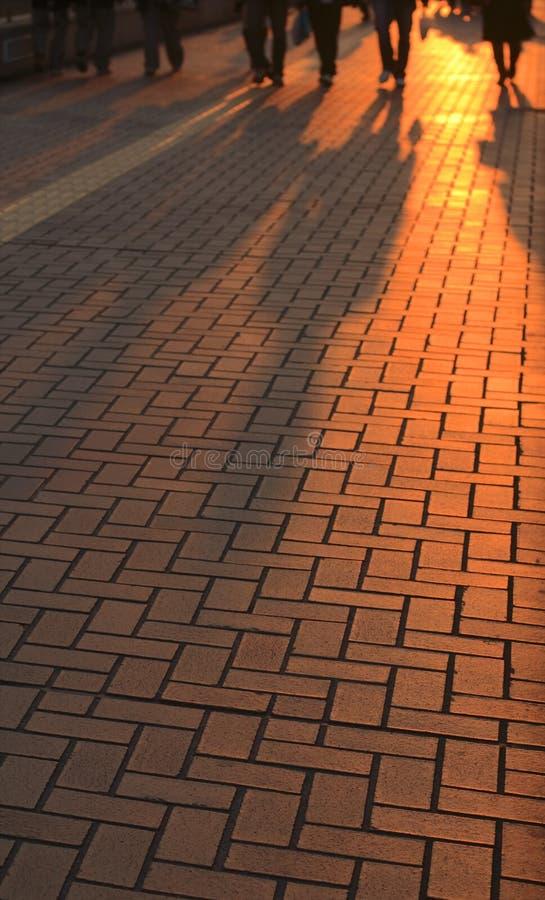 Sonnenunterganggeschäft?. lizenzfreies stockfoto