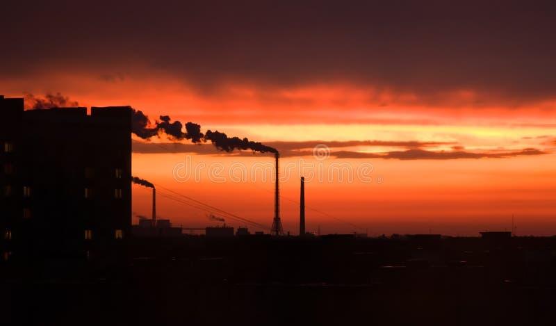 Sonnenunterganghimmel stockfotos