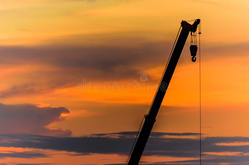 Sonnenuntergangkräne stockfotos