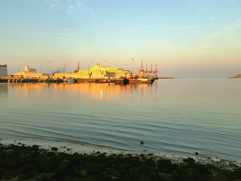 Sonnenunterganglichter lizenzfreie stockfotografie