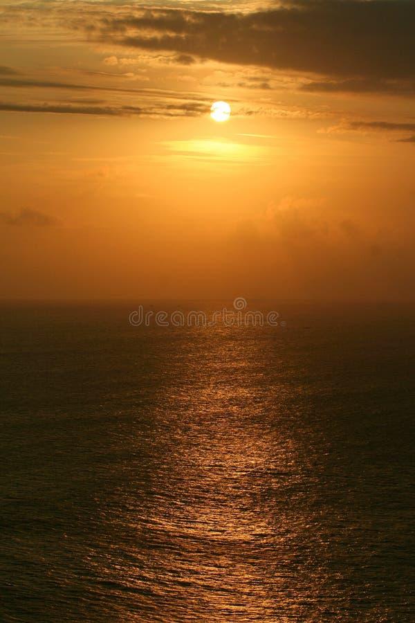 Sonnenuntergangmeerblick auf Bali Beschaffenheit von Indonesien Reise um Asien stockbild