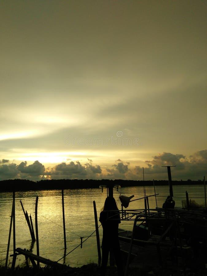 Sonnenuntergangmoment stockfotos