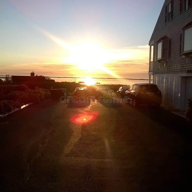 Sonnenuntergangmotel stockbilder