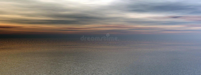 Sonnenuntergangozeanpanorama stock abbildung
