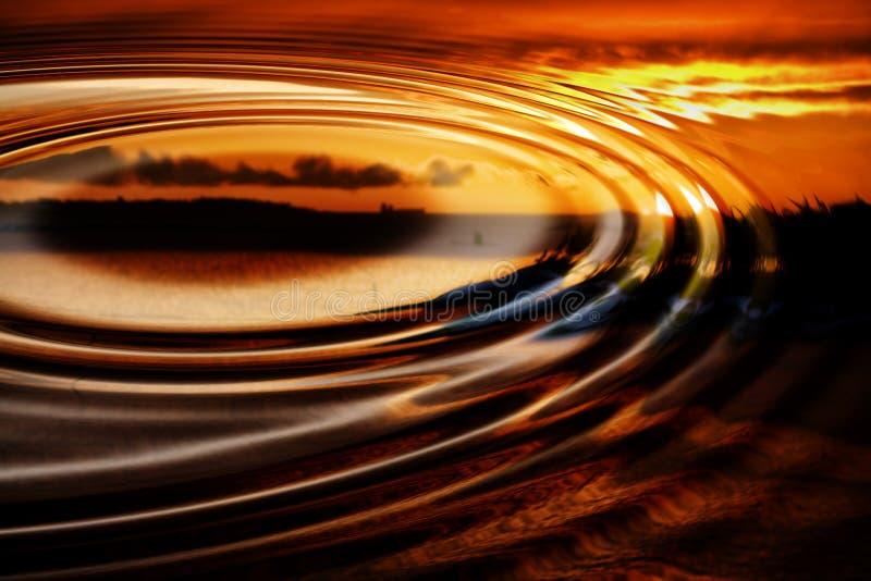 Sonnenuntergangreflexionen lizenzfreie abbildung