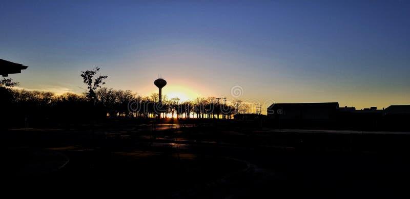 Sonnenuntergangschattenbild stockfoto