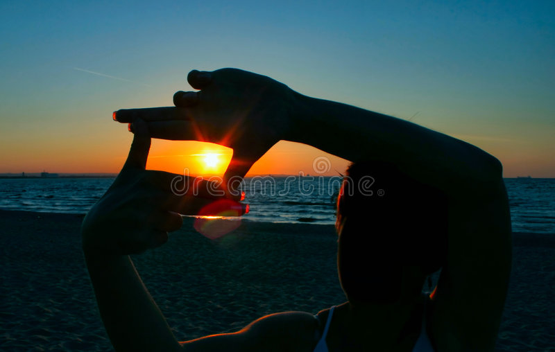 Sonnenuntergangsicherung #2 lizenzfreies stockfoto