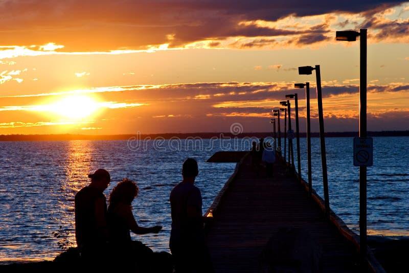 SonnenuntergangStroll lizenzfreies stockbild